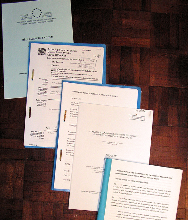 Selection of Radiofax High Court and ECHR documents