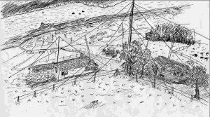 Artist's impression of transmitter site